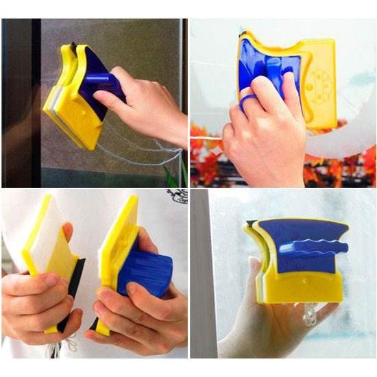 Dispozitiv magnetic pentru spalat geamuri - Produse curățenie - oferit de sellsell.ro